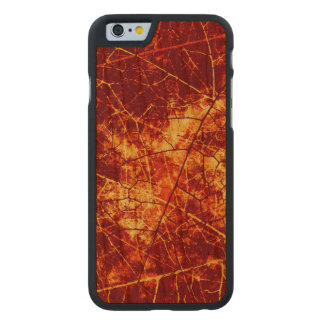 Rusty Red Cracked Lacquer Pattern Grunge Texture Carved® Cherry iPhone 6 Case