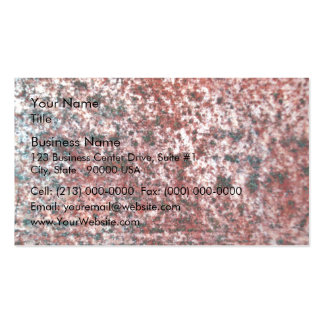 Rusty Red Metal Texture Business Card Template