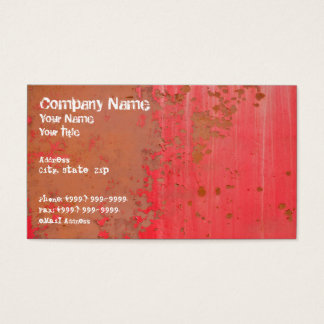 Rusty Red Metal Wall Business Card