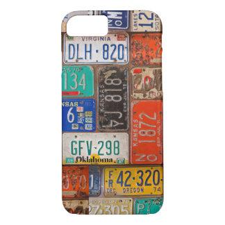 rusty retro license plates iPhone 8/7 case