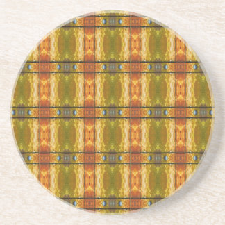 Rusty Rivets and Bars Abstract 2 Drink Coaster