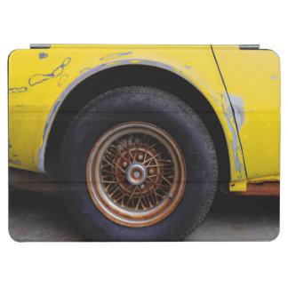 Rusty Roadmaster Tire, Peeling Yellow Painted Car iPad Air Cover
