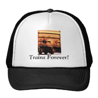 "Rusty rr train box car ""TRAINS FOREVER!"" Mesh Hats"