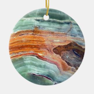 Rusty Sagey Minty Quartz Ceramic Ornament