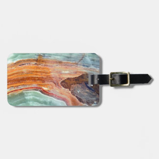 Rusty Sagey Minty Quartz Luggage Tag