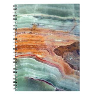 Rusty Sagey Minty Quartz Notebook