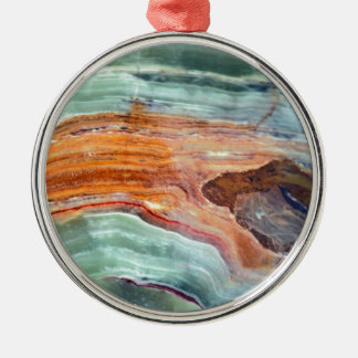Rusty Sagey Minty Quartz Silver-Colored Round Decoration
