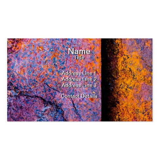 Rusty Sheets of Steel Business Card Templates