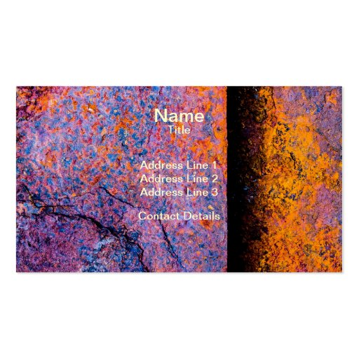 Rusty Sheets of Steel Business Cards