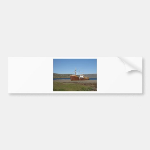 Rusty ship bumper stickers