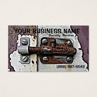 Rusty Slide Bolt  Lock Security Business Card