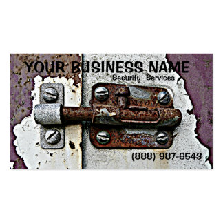 Rusty Slide Bolt  Lock Security Pack Of Standard Business Cards