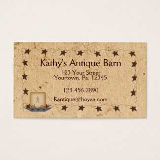 Rusty Stars & Candle Business Card