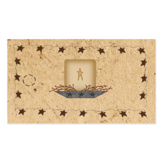 Rusty Stars & Candle Hang Tag Pack Of Standard Business Cards