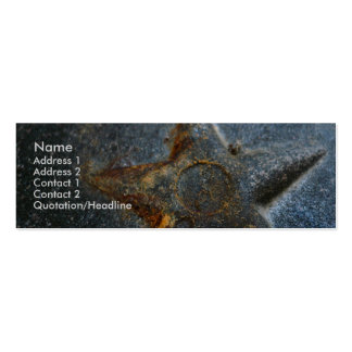 Rusty Stars Profile Cards Pack Of Skinny Business Cards