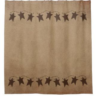 Rusty Stars Shower Curtain