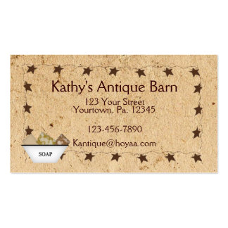 Rusty Stars & Soap Business Card