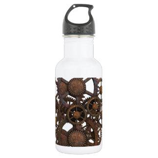 Rusty Steampunk Metal Gears 532 Ml Water Bottle