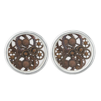 Rusty Steampunk Metal Gears Cuff Links