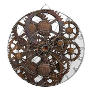 Rusty Steampunk Metal Gears Dartboard