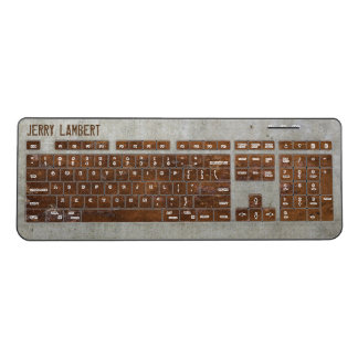 Rusty Steampunk Wireless Keyboard