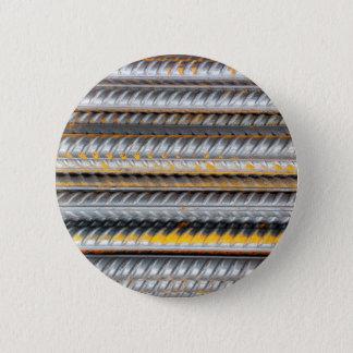 Rusty Steel Bars Pattern 6 Cm Round Badge