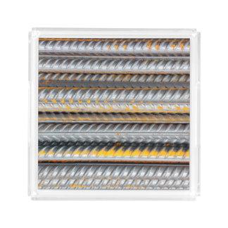 Rusty Steel Bars Pattern Acrylic Tray