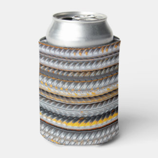 Rusty Steel Bars Pattern Can Cooler