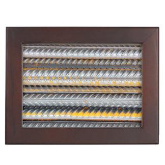 Rusty Steel Bars Pattern Keepsake Box