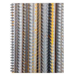Rusty Steel Bars Pattern Notebook