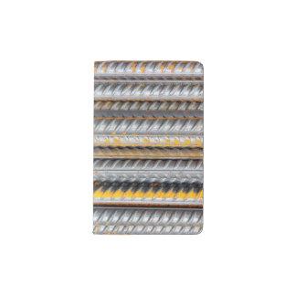 Rusty Steel Bars Pattern Pocket Moleskine Notebook