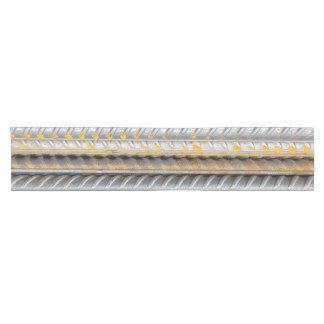 Rusty Steel Bars Pattern Short Table Runner