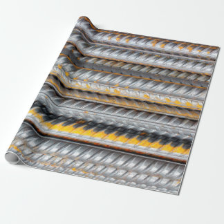 Rusty Steel Bars Pattern Wrapping Paper