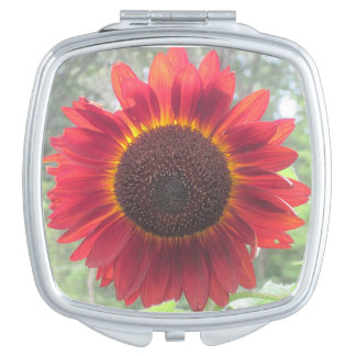 Rusty Sunflower Mirror Compact