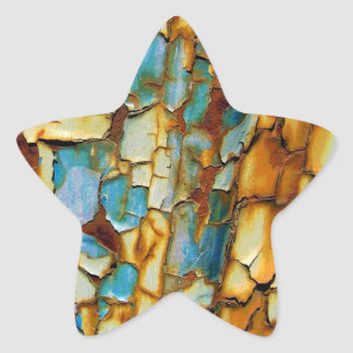 Rusty Teal Blue Wall Star Sticker