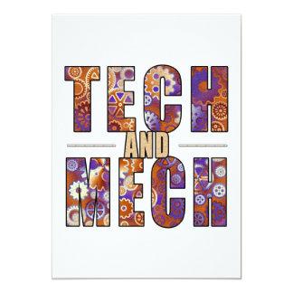 Rusty Tech and Mech 13 Cm X 18 Cm Invitation Card
