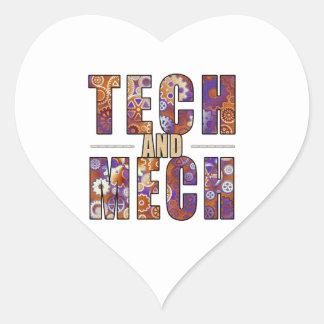 Rusty Tech and Mech Heart Sticker