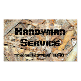 rusty tools pack of standard business cards