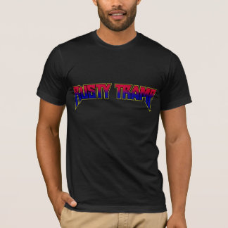 Rusty Tramp Retro 2 T-Shirt | red to blue fade