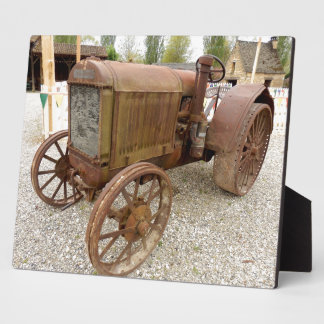 Rusty vintage tractor Plaque