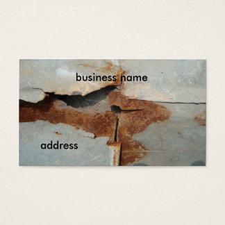 rusty wall business card
