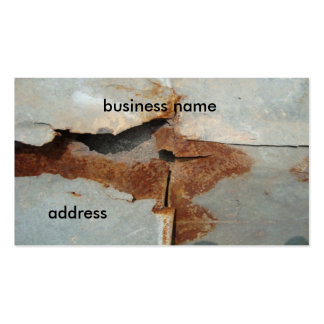 rusty wall pack of standard business cards