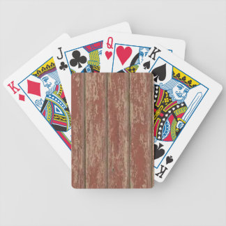 Rusty Weathered Board Bicycle Playing Cards