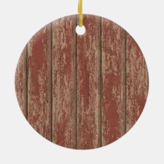 Rusty Weathered Board Round Ceramic Decoration