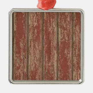 Rusty Weathered Board Silver-Colored Square Decoration