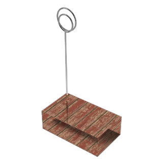 Rusty Weathered Board Table Card Holder