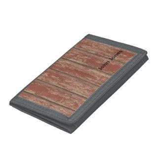 Rusty Weathered Board Tri-fold Wallet