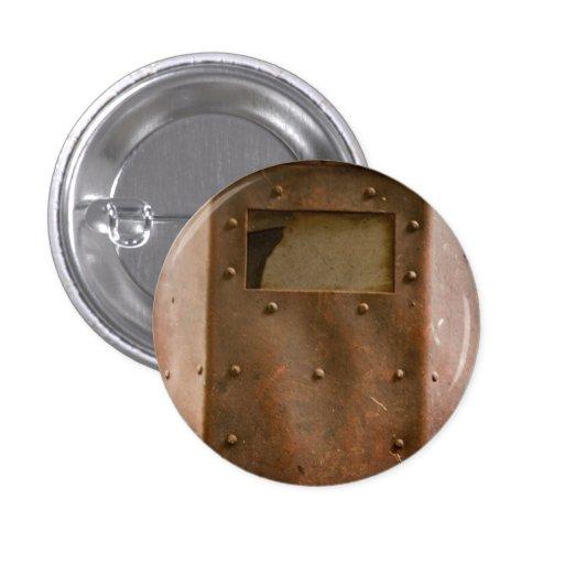 Rusty welding helmet buttons
