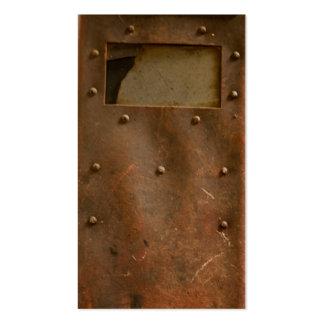 Rusty welding helmet pack of standard business cards