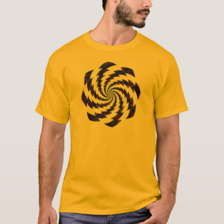 rusty wheel rotating flashes design T-Shirt